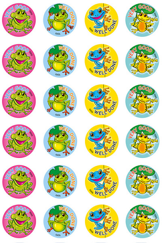 Frogs Stickers 96 pack (MS060)