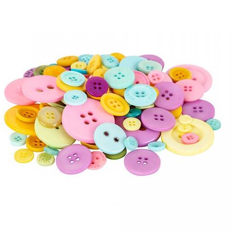 Buttons Pastel Colours 600g