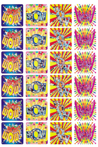 Wow Foil Stickers 72 pack