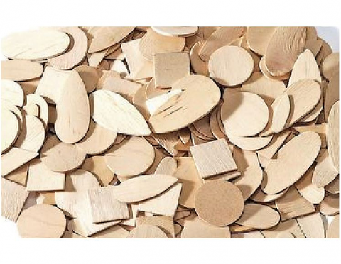 Wooden Shapes Natural 1000pk