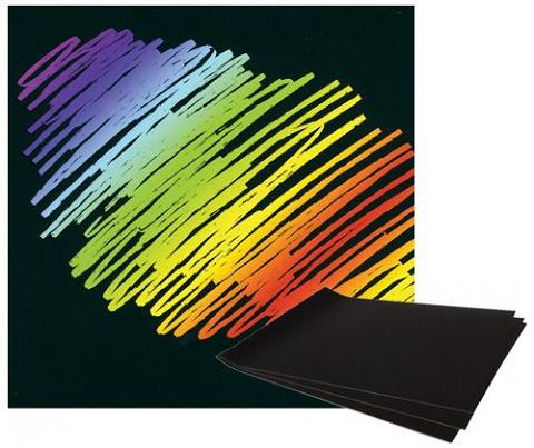 Scratch Art Rainbow Paper A4