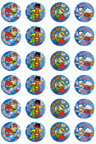 Super Kid (Boy) Stickers 96 pack (MS012)