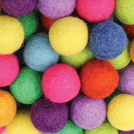 Felt Balls Bright Colours 50 pack