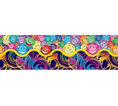 Swirls and Smiles Pop Apart Border
