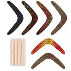Scratch Art Boomerangs 30pack