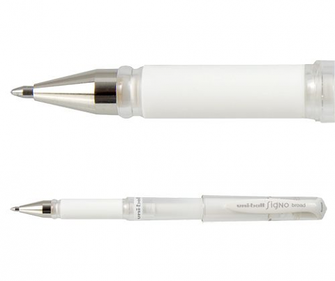Uni-Ball Signo Broad Pen- White 12 pack