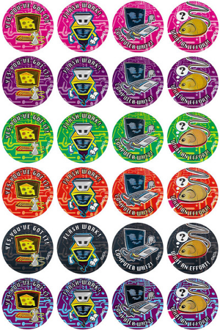 Computer Whizz Stickers 96 pack (MS029)