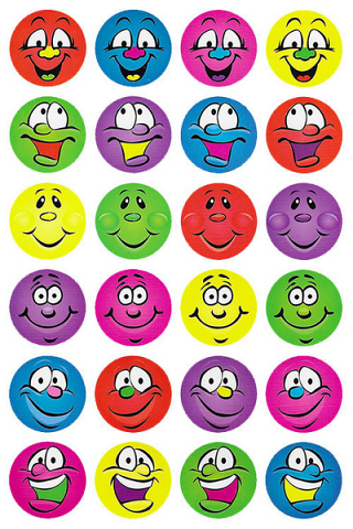 Multi Smiles Stickers 96 pack (MS047)