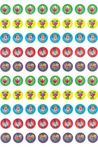 Clown Glitter Dot Stickers 800 pack (DG597)