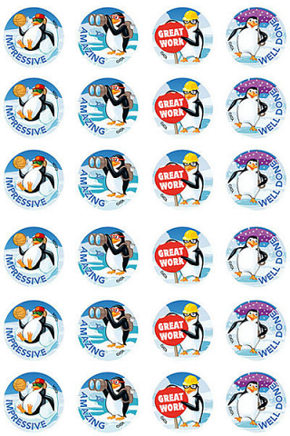 Playful Penguins Stickers 96 pack (MS092)