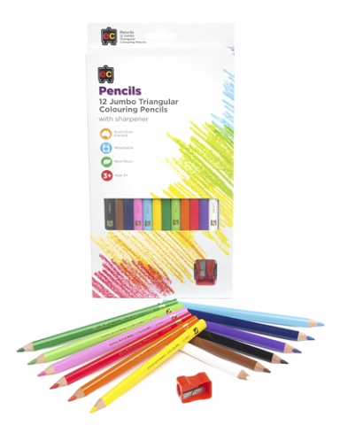 EC - Jumbo Triangular Coloured Pencils