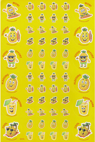 Scratch n' Sniff  Stickers Pineapple