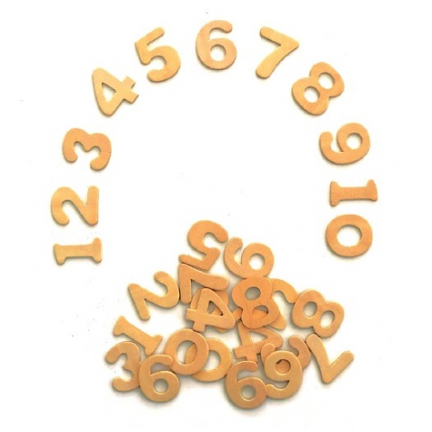Wooden Numbers 100pack