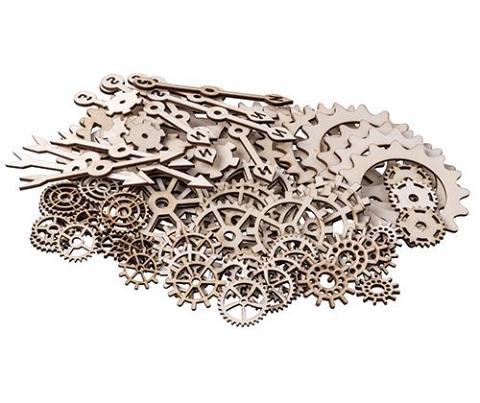 Wooden Gears & Cogs Asst 100's
