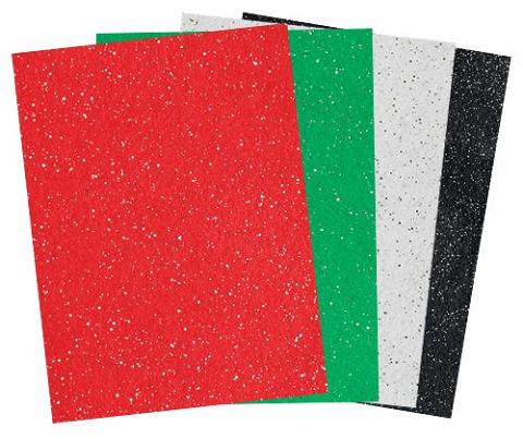 Felt Sheets Glitter A4 10's Christmas