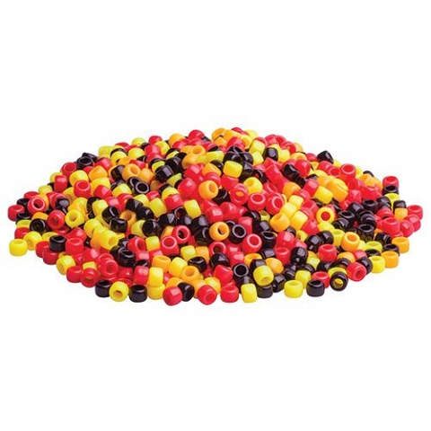 "Pony Beads ""Red,Yellow,Black"""