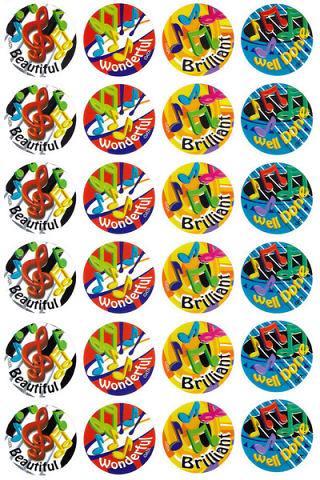 Music Maestros Stickers 96 pack (MS033)