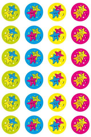 Star Fluoro Stickers 96 pack (FS210)