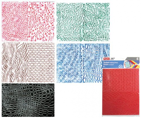 Rubbing Plates – Large Texture 8 Designs