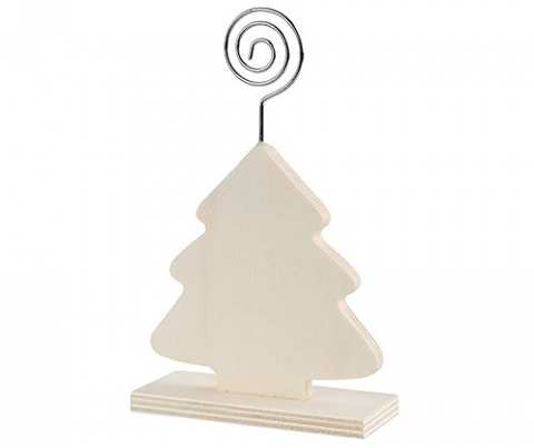 Wooden Stand with Photo Holder Tree