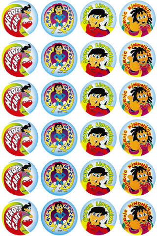 Super Manners Stickers 96 pack (MS025)