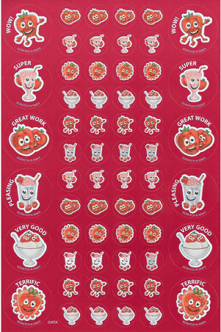 Scratch n' Sniff  Stickers Strawberry