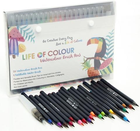 Watercolour Brush Pen - Set of 20