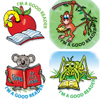 I'm A Good Reader Stickers 96pack (MS009)