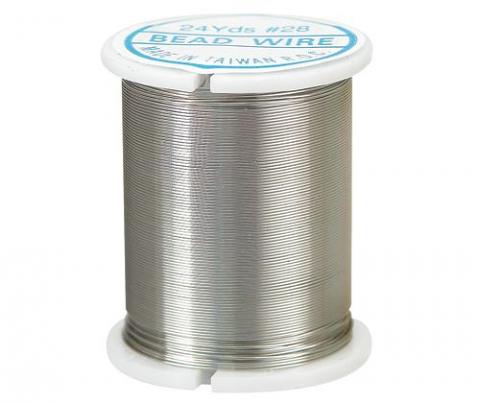 Jewellery Wire 24 yard (22m) Silver