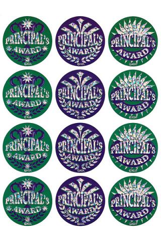 Principal's Foil Glitz Award Sticker