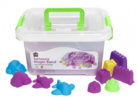 Sensory Magic Sand with Moulds 2kg Tub