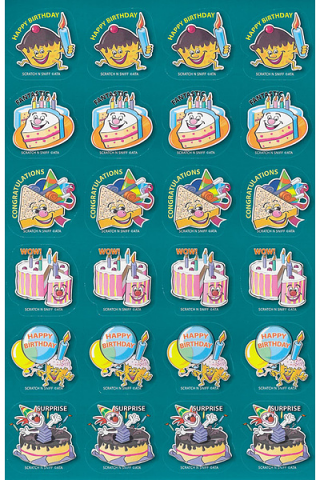 Scratch 'n Sniff Stickers Birthday Scented 72 pack (SS1022)