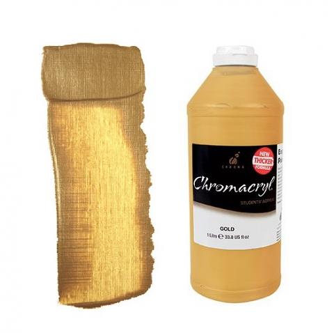 Chromacryl Student Acrylic 1Litre Gold