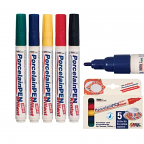 Porcelain Markers 5's Assorted Primary
