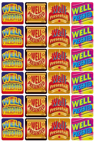 Well Presented Metallic Stickers 96 pack