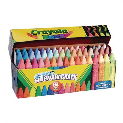 Crayola 64 Washable Sidewalk Chalk