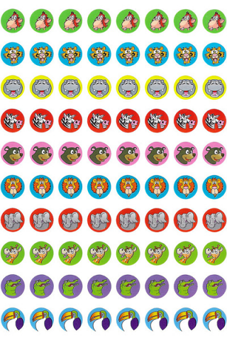 Zoo Dot Stickers 800 pack