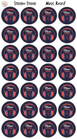 Sticky Boo Reward Stickers - Music Rocks