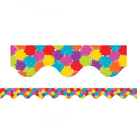 Pom Poms - Magnetic Scalloped Borders (Pack of 12)