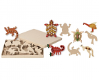 Paper Mache Australian Animals 80pack  (8 designs)