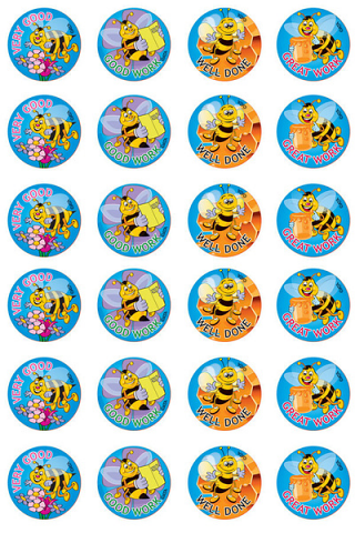 Bees Stickers 96 pack