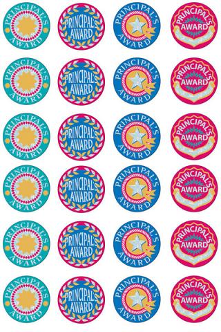 Principal's Silver Glitz Award Foil Sticker