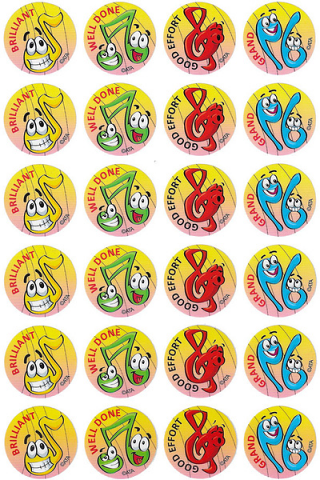 Music Stickers 96 pack (MS110)