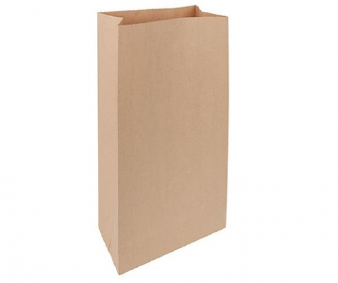 Brown Paper Bags with Gusset - 100 pack