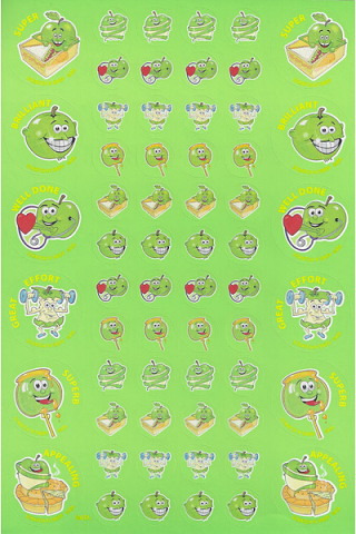 Scratch n' Sniff  Stickers Green Apple