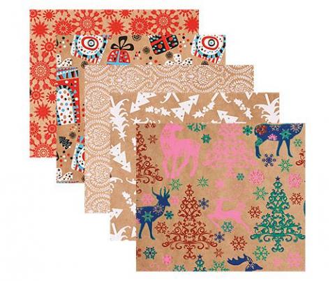 Christmas Kraft Paper Asst 40's