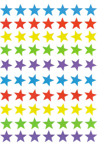 Dynamic Star Dot Stickers 800 pack (DS420)